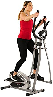Sunny Health & Fitness Unisex Adult SF-E905 Magnetic Elliptical Bike - Silver, One