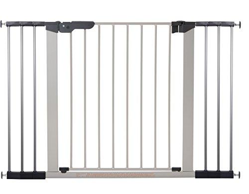 Baby Dan 60117-2696-02-85 Premier Tür/Treppenschutzgitter zum Einklemmen, 73.5-119.3 cm, silber/schwarz