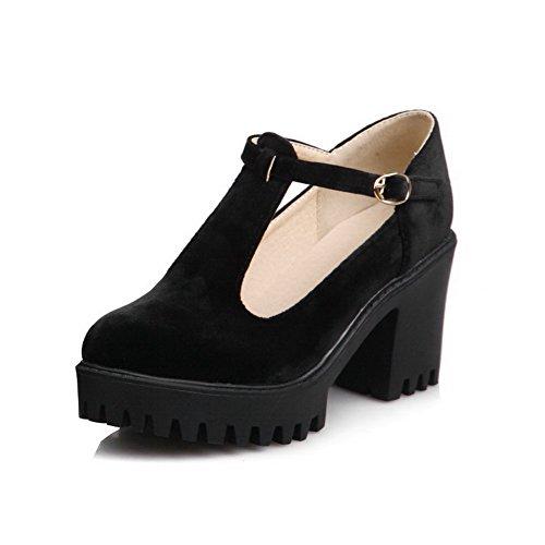 Femme Couleur Chaussures Unie Dépolissement Voguezone009 Haut À Rond nAnq6fZxw