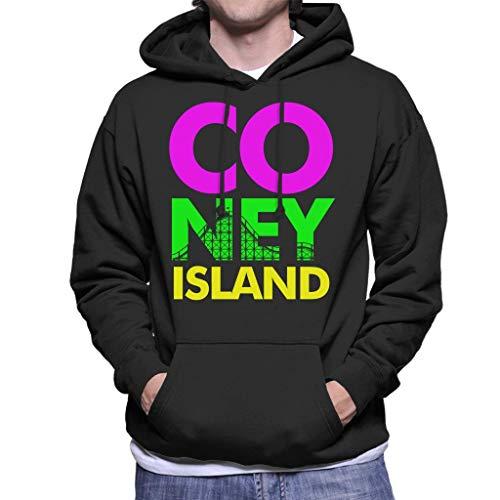 Herren Coney Island (Coney Island Retro Colour Text Men's Hooded Sweatshirt)