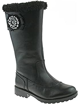 Lelli Kelly LK8594 (CB01) Hilary Nero Pelle Boots-30 (UK 12)