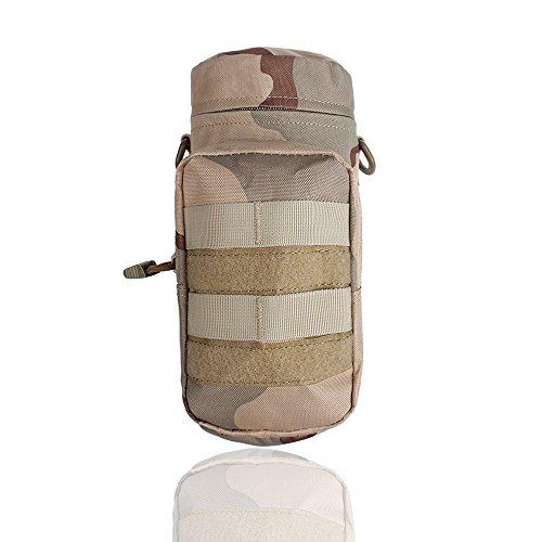 Xhorizon Bottiglia Borraccia d'acqua impermeabile multiuso in Nylon sacchetto con custodia militare borsa tattica molle con bollitore Outdoor cintura sacchetto marsupio zaino portatore d'idratazione #4