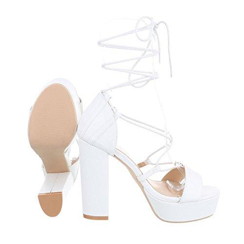 Sandali bianchi per donna Ital Design WVSDHtcqf1