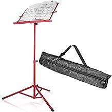 """Neewer® Pliant 17,7 """"-42"""" / 45cm-107cm Hauteur Ajustable Stand Musique pour Partitions avec Solid Trépied Base, Angle Bookplte et Sac de Transport Etanche - Fer / Rouge"""