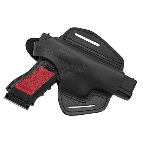 MAYMOC The Defender Leather Pistol Holster Fondina da Cintura per Glock 17 19 22 23 25 31 32 34 37