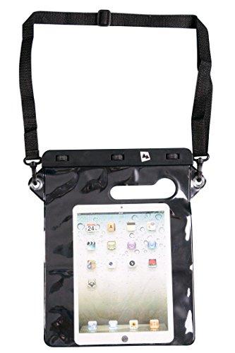 AdventureAustria Wasserdichtes Hülle Schwarz 26cm x 21cm geeignet für 12,9-Zoll Bildschirm Tablet Smartphones Dokumente Wertsachen - Schützt gegen Wasser Staub Sand. Kompatibel Ipad Samsung usw.