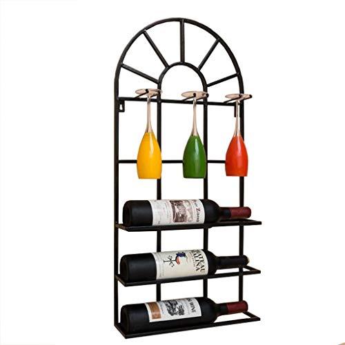 Ruima wine rack stand chateau style - contiene 3 bottiglie del tuo vino preferito - elegante e alla moda in stile francese portabottiglie per complimentarmi con qualsiasi spazio - assenza di montaggio