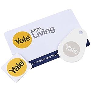 Yale P-YD-01-CON-RFIDM Phone Tag Smart Door Lock Accessory Bundle-Key Card, White, Set of 3 Pieces