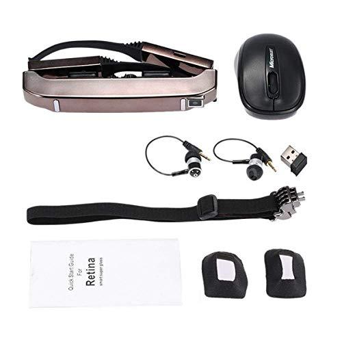 Sothat Vision-800 Intelligente Android WiFi Brille 80 Zoll Breitbildschirm Tragbare Video 3D Brille Privates Theater Mit Kamera Medienspieler