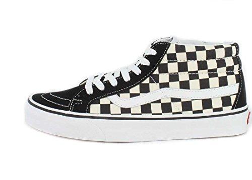 Chaussures Vans U Sk8-Mid Reissue - Checkerboard / True White-Noir Noir