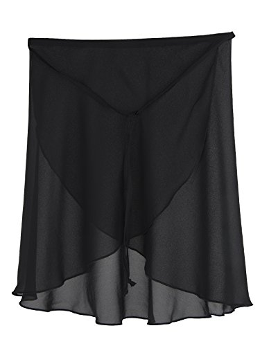 R3050 Wickelrock Farbe schwarz Größe 164 (Damen Wickelrock)