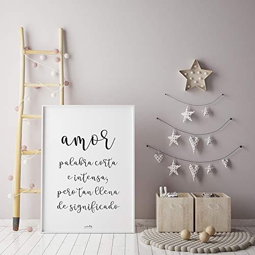 Lámina AMOR | Ideal para decorar cualquier rincón de casa | Tamaño A4 | Impresa en cartulina blanca