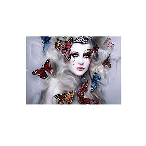 DIY 5D Diamant Painting, Schädel Frau Crystal Strass Stickerei Bilder Kunst Handwerk für Home Wall Decor, Halloween dekorative Malerei, Kreuz Stich Diamond Dekoration (C)