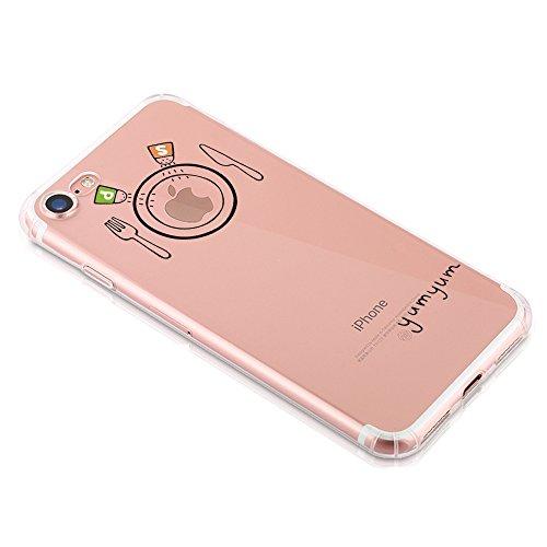 Qissy®TPU Case für iPhone 7 Silikon-Hülle Soft Shell-Fall-Schutz Anti Shock Silikon Anti-Staub-beständig Leichtes Ende mit Glänzende Einzigartiges Persönlichkeitsdesign (iPhone 7 4,7 Zoll, 5) 3