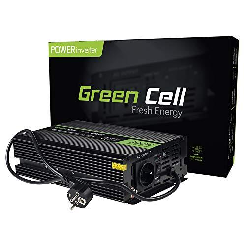 Green Cell® 300W/600W Reiner Sinus Spannungwandler USV UPS Wechselrichter DC 12V auf AC 230V Stromwandler Power Bypass Inverter zur Versorgung von Pumpen in Zentralheizungsöfen, Solaranlagen, Öfen usw - 600 600w Power Inverter