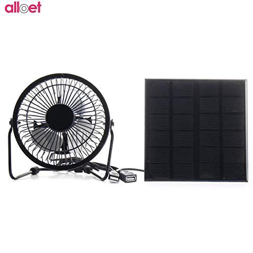 Tyro 3 W 6 V Solar Panel Eisen Lüfter 10,2 cm Lüfter Lüfter Ladung für Handy für Outdoor Reisen Angeln Home Office -