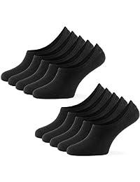 Mat & Vic's Calcetines Cortos par Hombre y Mujer Invisibles Respirable Calcetines tobilleros Algodón Antideslizantes,Certificado Oeko-Tex 100