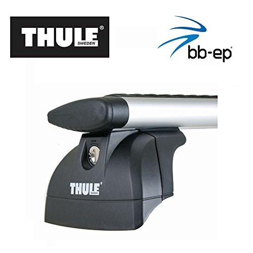 Thule Alu-Dachträger 90435135 mit neuer WingBar Traverse Komplet System inkl. Schloss für JEEP Grand Cherokee mit integrierter Dachreling - inkl. 1 l Kroon Oil ScreenWash