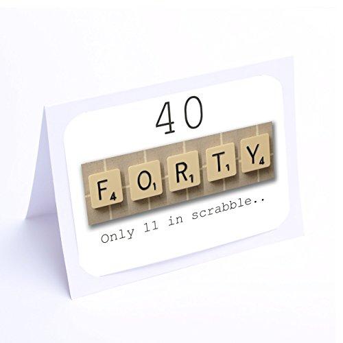 Birthday Card Scrabble (40th Birthday Card)