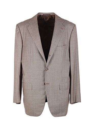 Preisvergleich Produktbild Kiton CL Greyish Beige Suit Size 52/42R U.S. in Wool 14 Micron