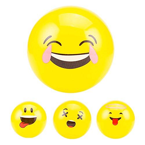 Zantec 1Pcs Emoji Ballone Smiley Strand Ball Gesicht Ausdruck Spielzeug Gelb Latex Ballons Cartoon Aufblasbare Kugeln