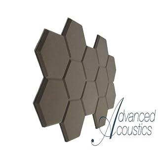 Advanced Acoustics Hexatile2 Akustikschaumstoffplatten, sechseckig, 12 Stück
