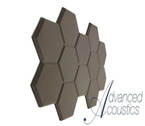 Acustica avanzata hexatile2 studio acustico in schiuma per piastrelle Confezione da 12
