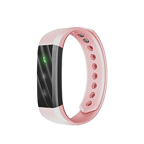 Amazingdeal365 ID115 Lite Smart Wrist Bracelet Fitness Tracker Step Counter Activity Monitor (Pink)