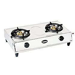 Padmini Double Burner Gas Stove (CS-200)- silver