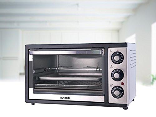 Borosil Prima 25 Liter 1500 Watt Convection Oven Toaster Griller (otg), Shiny Silver Body