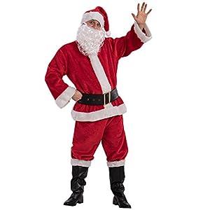 Carnival Toys-Disfraz Papá Noel Navidad Unisex-Adult, multicolor, talla única, 27043