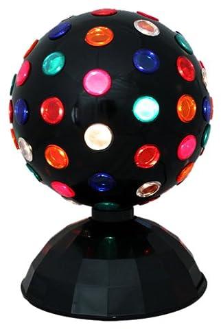 Global Gizmos 8-inch Rotating Disco Ball Light, Multi-Coloured