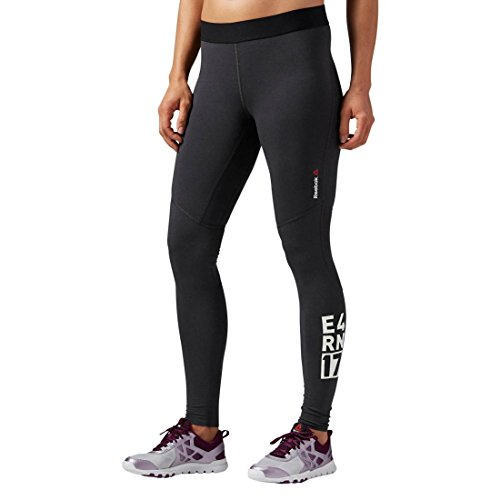 Compression Reebok One Series (Reebok Damen Trainingshose ONE Series Quik Cotton Compression Tights, Coal, S, AI1739)