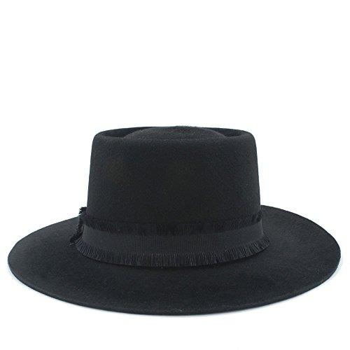 zer Schweinefleisch-Torten-Wollfilz handgemacht für Mann-Frauen-Hut Kopfbedeckungen (Farbe : 1, Größe : 57-59cm) ()