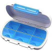 Multifunktionale Kompakte Größe Medizin Pill Box Portable 6 Lattice Reisemedizin Halter Tablet-Speicher-Fall Container preisvergleich bei billige-tabletten.eu