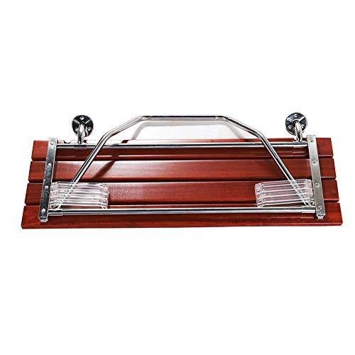 OOFAYWFD Duschhocker Duschstuhl Falten Sie Badezimmer-Stuhl-Wand angebrachte Duschbank, mit Beinen, Doppelsitz, Edelstahl 304, unterstützt bis zu 250 kg