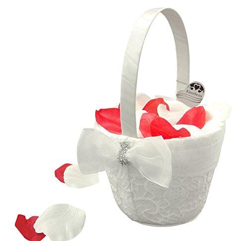 1x Streukörbchen Hochzeit EinsSein® Liz creme Blumenkinder Hochzeit Blumenkorb Blumenkörbe Blumenmädchen Blumendeko basket girl flower