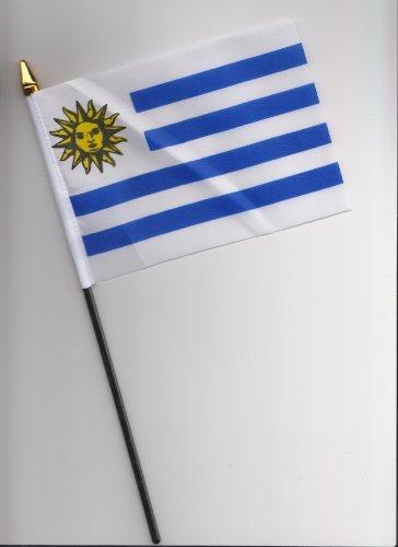 Uruguay Hand Flag 25cm
