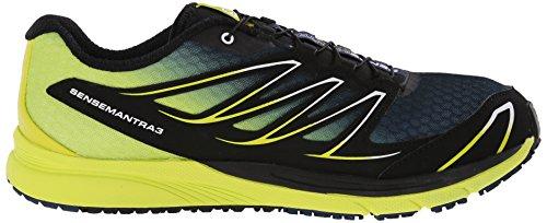 Salomon Sense Mantra 3, Chaussures de Running Compétition Homme Multicolore (Slateblue/Gecko Green/Black)