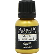 Rainbow Dust Metallic-Lebensmittelfarbe Gold Light, 1er Pack (1 x 25 ml)