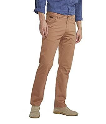 Wrangler Men's Texas Stretch Soft Fabric Chino Style Jeans Brown