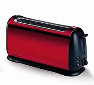 moulinex grille pain subito tl176530 inox rouge noir. Black Bedroom Furniture Sets. Home Design Ideas