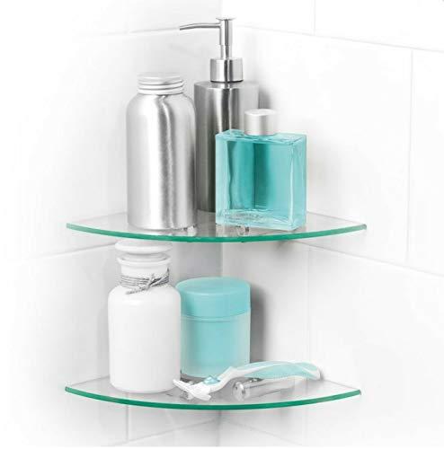 New Beldray Badezimmer Badewanne Dusche 2 Tier Glas Eckregale Regal -