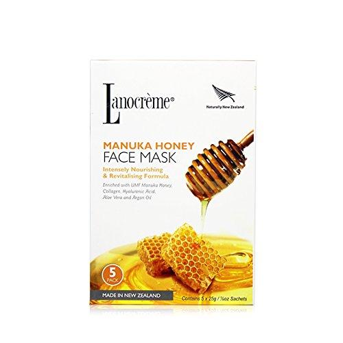 Lanocreme Manuka Honey Intensely Nourishing & Revitalising Formula Face Mask 5 pc by Lanocreme