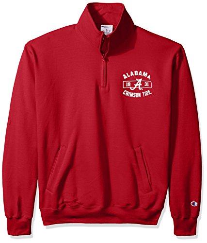 Alabama Sweatshirt (NCAA Herren Fleece-Jacke Alabama Crimson Tide Power Blend Quarter Zip Jacke, Größe M, Kardinal)