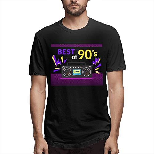 Männer Custom verschwitzt Best of 90s Illistration mit realistischen Tape Recorder Kurzarm Fashion T-Shirt schwarz,S (Geist Recorder)