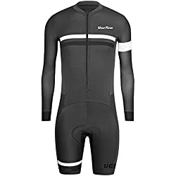 Uglyfrog Bike Wear Ciclismo Hombres Skinsuit Long Sleeve Maillots with Short legs