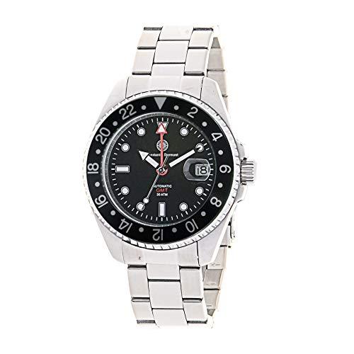Constantin Durmont Unisex Erwachsene Analog Automatik Uhr mit Edelstahl Armband Cavity Automatic GMT 130507