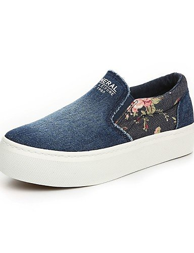 ZQ gyht Scarpe Donna - Ballerine / Mocassini / Senza lacci - Tempo libero / Casual - Plateau / Creepers / Comoda / Punta arrotondata - Plateau - , dark blue-us8 / eu39 / uk6 / cn39 , dark blue-us8 / e light blue-us6.5-7 / eu37 / uk4.5-5 / cn37