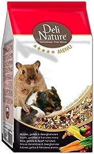 DELINATURE Mixtura para Ratones, Jerbos y Hámsters Enanos, Menú 5*, Delinature, 750 g, Pequeños Mamíferos